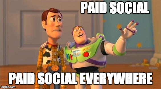 paid social media everywhere meme social media strategies visualfizz