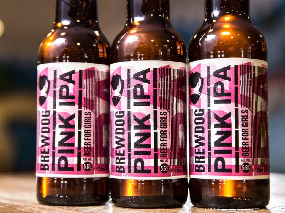 pink IPA beer for girls bad ads of 2018 visualfizz brewdogs