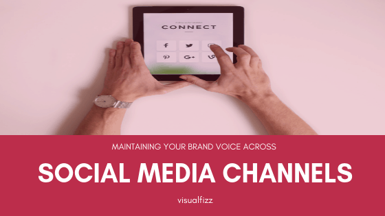 visualfizz social media voice across various social media channels branding chicago