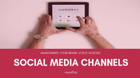 visualfizz social media voice across various social media channels branding chicago